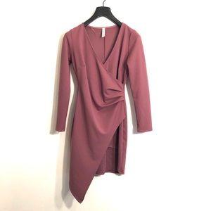 [Blue Blush] Mauve Long Sleeve Dress - SizeLarge